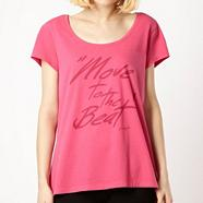 Pineapple dark pink 'Move To The Beat' t-shirt
