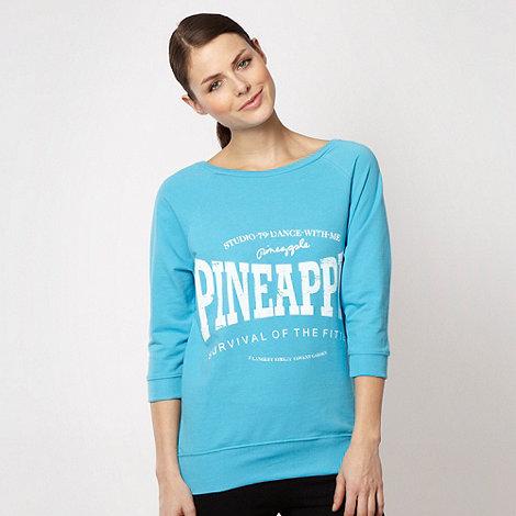 Pineapple - Pineapple turquoise three quarter sleeved sweatshirt
