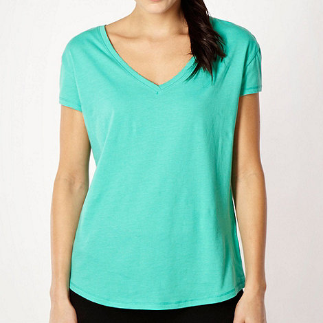 Pineapple - Pineapple light green V neck t-shirt