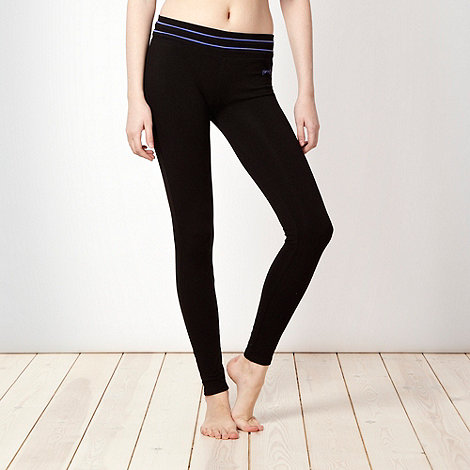 Pineapple - Pineapple black striped waistband leggings