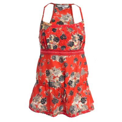 Red floral camisole