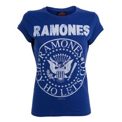 Navy blue Ramones slogan t-shirt
