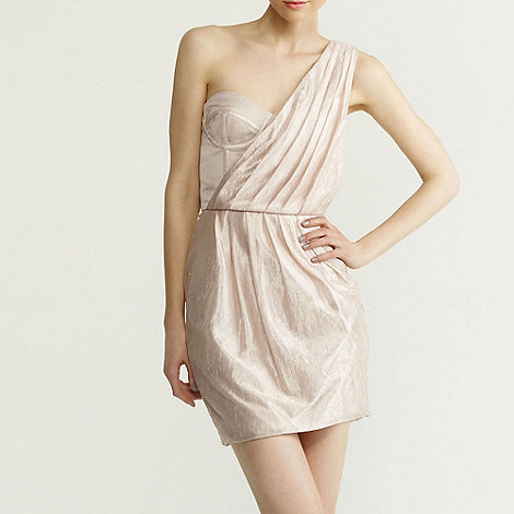 Red Herring Special Edition - Light peach one shoulder dress