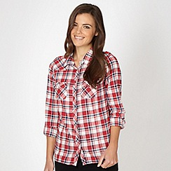 Red Herring - Red checked long sleeved shirt