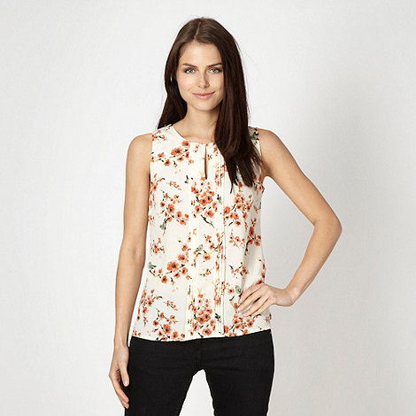 Red Herring - Cream floral bird shell top