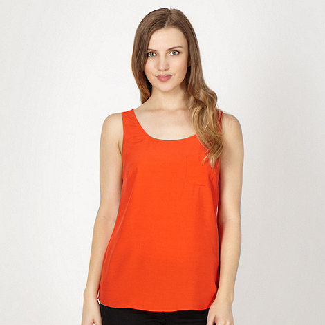Red Herring - Orange single pocket vest top