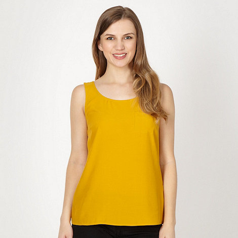 Red Herring - Mustard single pocket vest top
