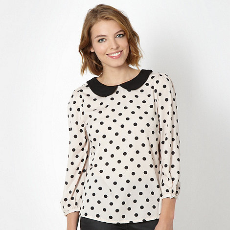 Red Herring - Light pink spotted shell top