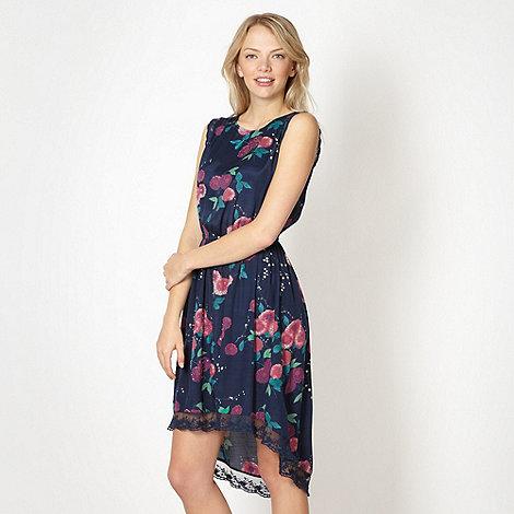 Red Herring - Navy embellished floral dress