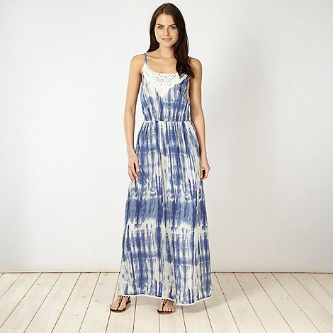 Red Herring - Blue tie dyed maxi dress