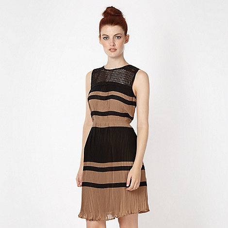 Red Herring - Black pleated chiffon dress