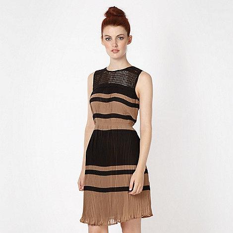 Red Herring - Black pleated chiffon dress