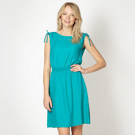 Red Herring - Turquoise plain woven dress