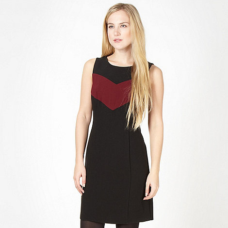 Red Herring - Wine panel shift dress