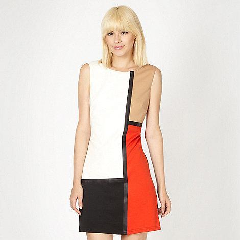 Red Herring - Black colour block shift dress