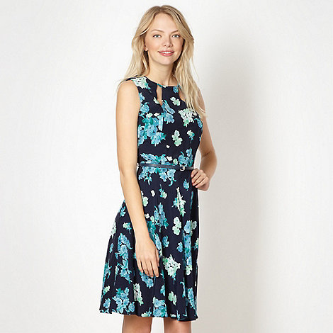 Red Herring - Navy cutout floral dress