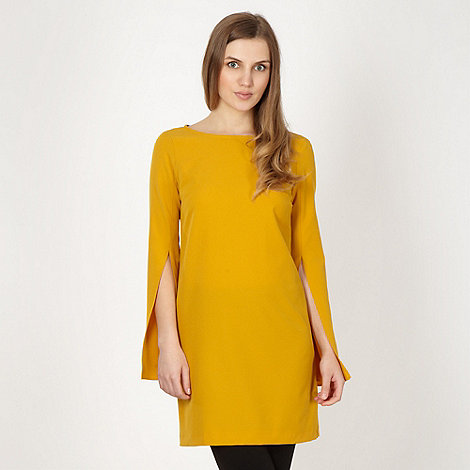 Red Herring - Mustard split sleeve tunic dress