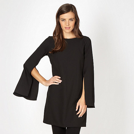 Red Herring - Black split sleeve tunic dress