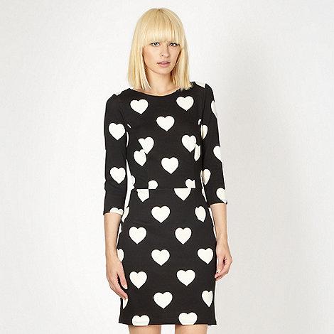 Red Herring - Black heart print dress