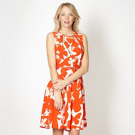Red Herring - Orange cutout butterfly dress