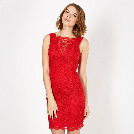 Red Herring - Red lace bodycon dress
