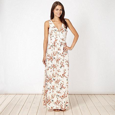 Red Herring - Cream blossom printed maxi dress