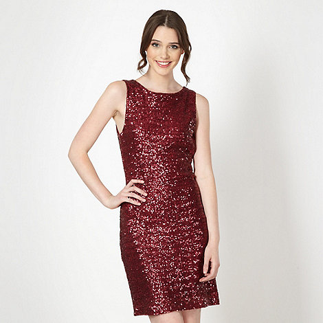 Red Herring - Wine sequin party dress