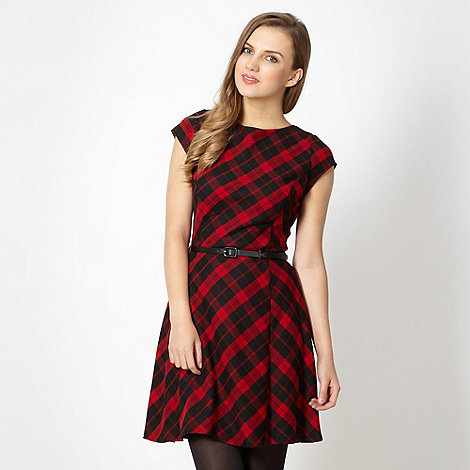 Red Herring - Red tartan skater dress