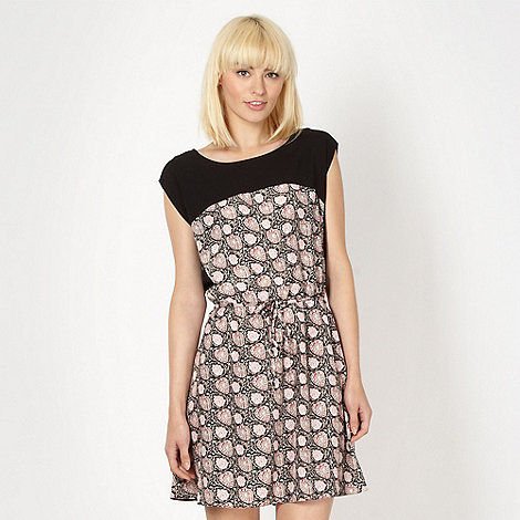 Red Herring - Black block detail floral dress