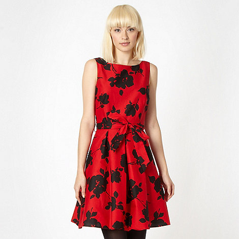 Red Herring - Red floral prom dress
