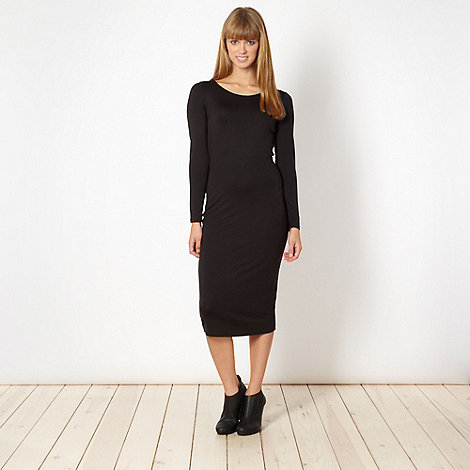 Red Herring - Black jersey tube dress