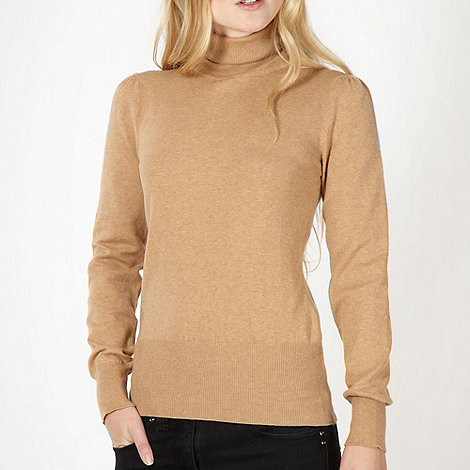 Red Herring - Camel roll neck jumper