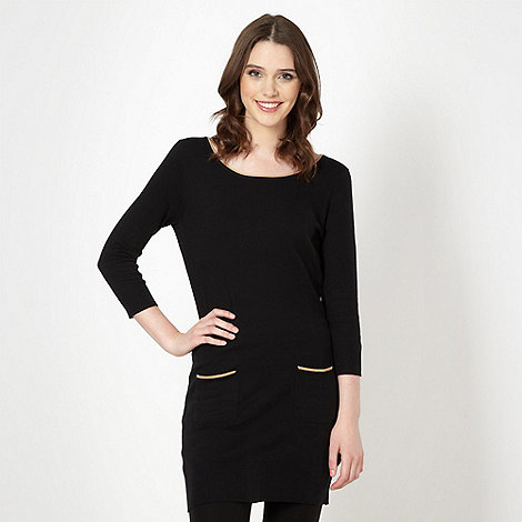 Red Herring - Black knitted tunic