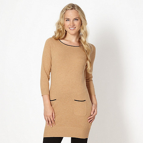 Red Herring - Camel knitted tunic