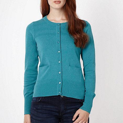 Red Herring - Turquoise tuck stitch cardigan