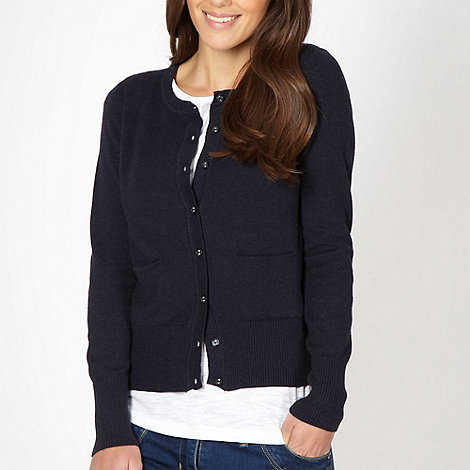 Red Herring - Navy textured stripe knit cardigan