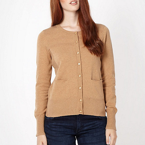Red Herring - Tan tuck stitch cardigan