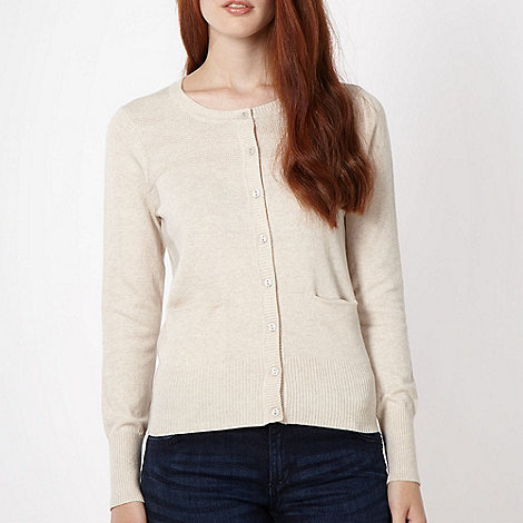 Red Herring - Cream tuck stitch cardigan