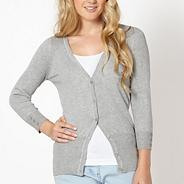 Grey V neck cardigan