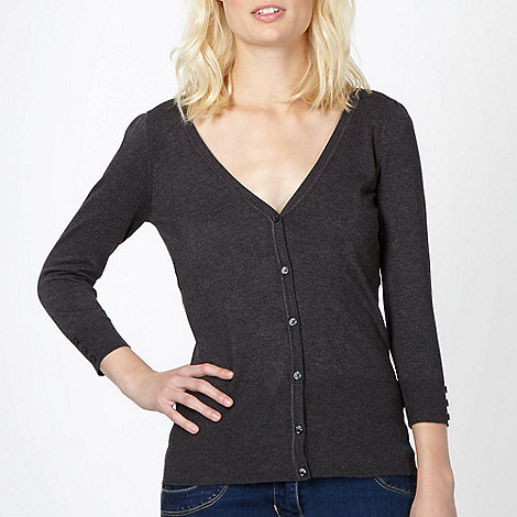Red Herring - Dark grey V neck cardigan