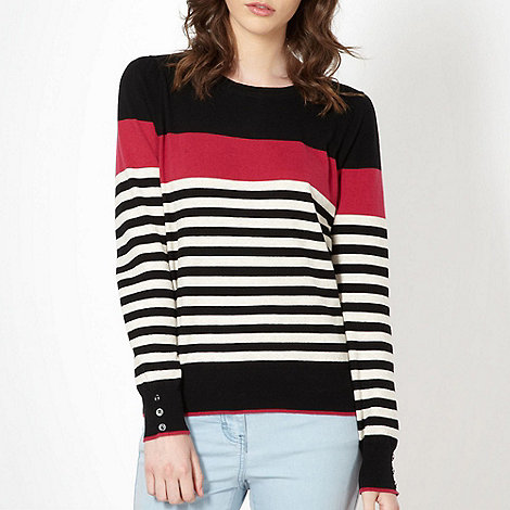 Red Herring - Black multi stripe jumper