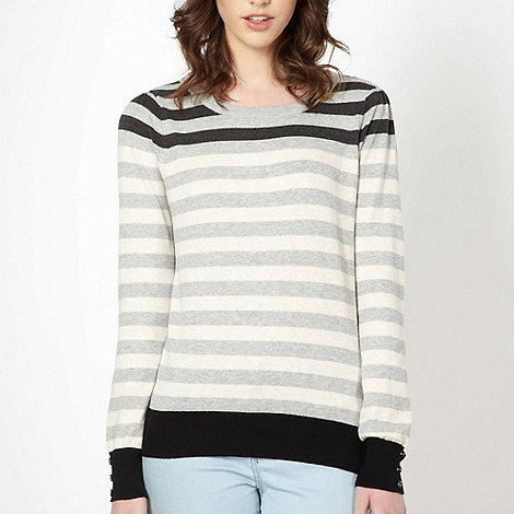 Red Herring - Light grey multi stripe jumper