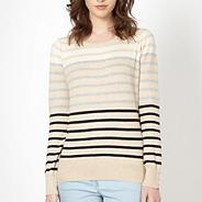 Camel multi stripe jumper
