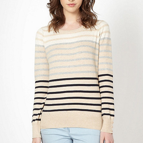 Red Herring - Camel multi stripe jumper