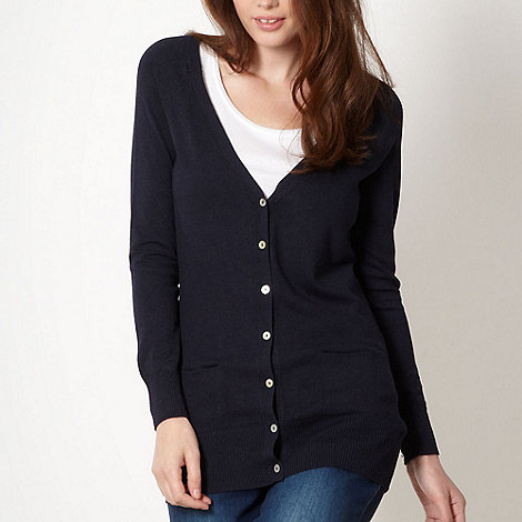 Red Herring - Navy boyfriend style cardigan