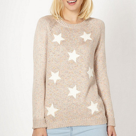 Red Herring - Cream boucle star jumper