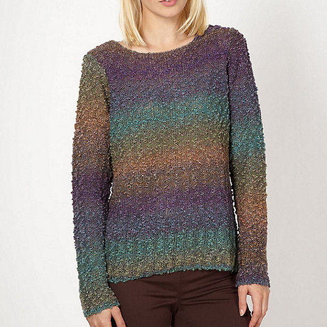 Red Herring - Purple graduated boucle jumper