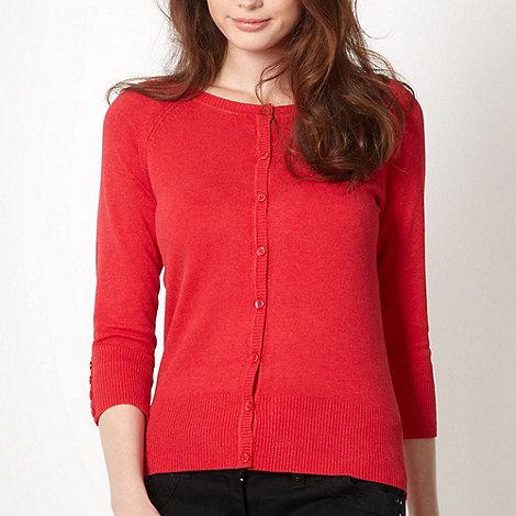 Red Herring - Red crew neck cardigan