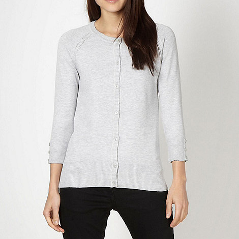 Red Herring - Light grey crew neck cardigan