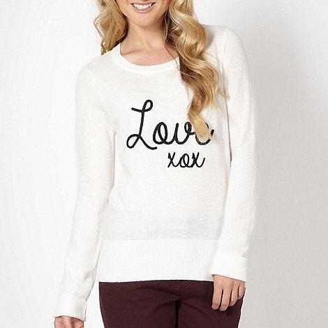 Red Herring - Off white +Love+ jumper